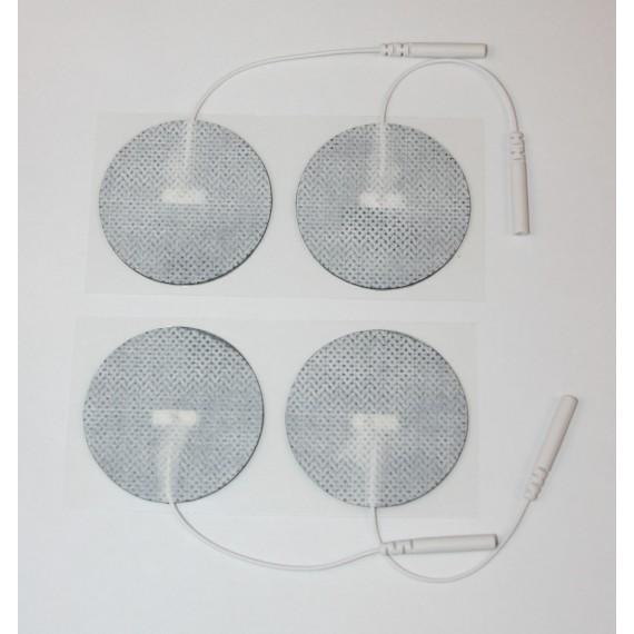 Electrodos adhesivos Lessa circulares de 50 milímetros de diámetro (4 unidades)