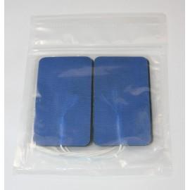 Electrodos adhesivos Lessa de 45 x 98 milímetros color azul