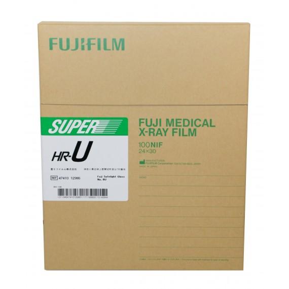 Película RX Fuji Super HR-U de 24 x 30 centímetros (100 unidades)