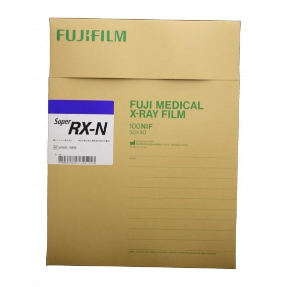 Película RX Fuji Super RX-N de 30 x 40 centímetros (100 unidades)
