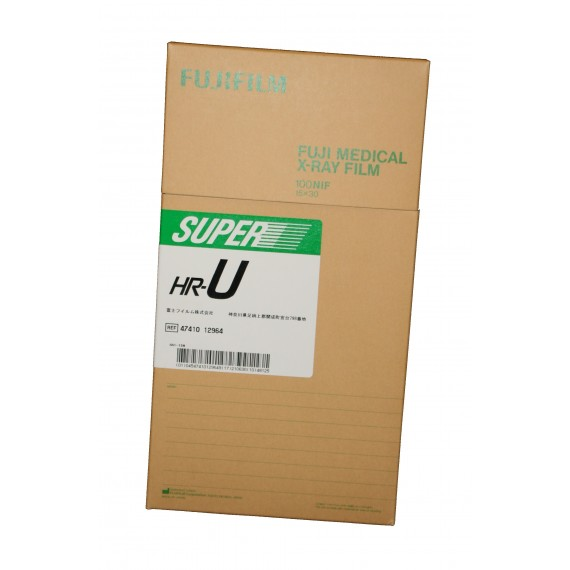 Película RX Fuji Super HR-U de 15 x 30 centímetros (100 unidades)