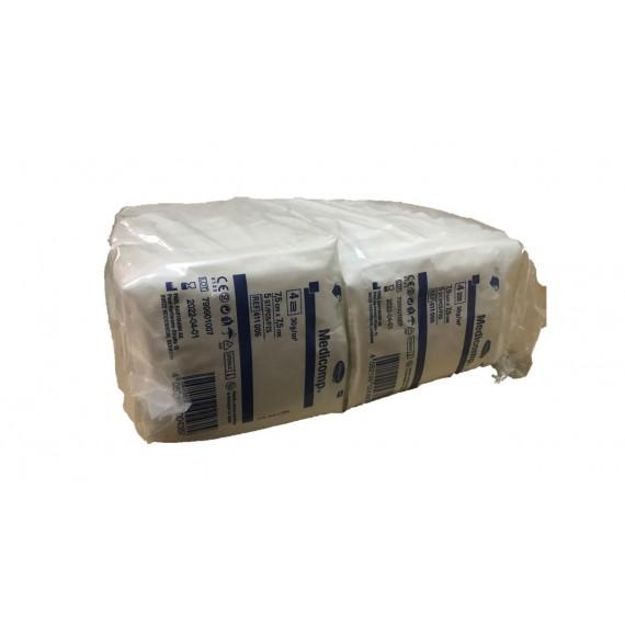 Compresas estériles Medicomp non-woven de 30 gr/m², de 7,5 x 7,5 centímetros en sobres de 5 unidades (100 unidades)