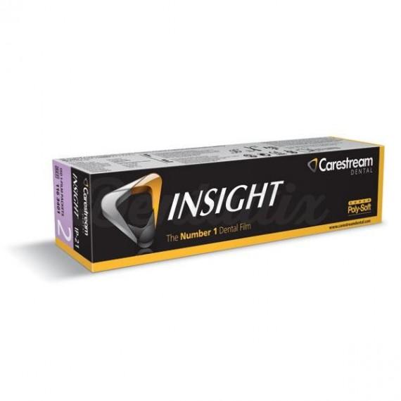 Película Carestream IP-21 Insight de 3 x 4 centímetros (simple) (150 unidades)