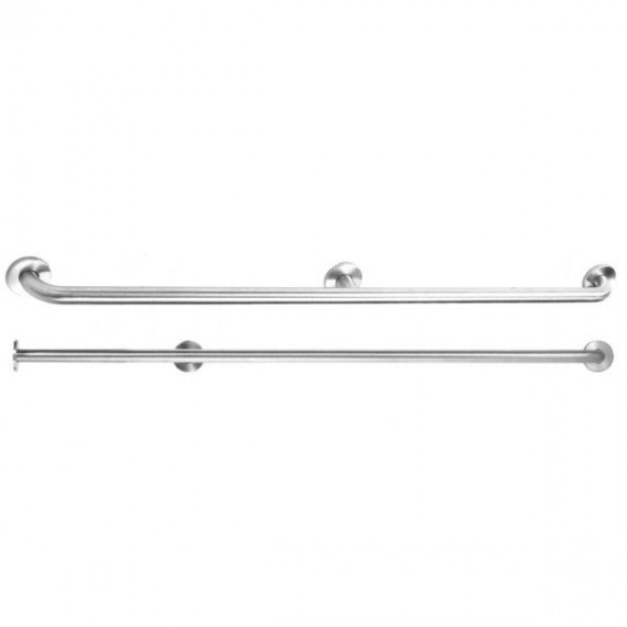 Barra de ayuda recta con 3 puntos de apoyo 120 centímetros