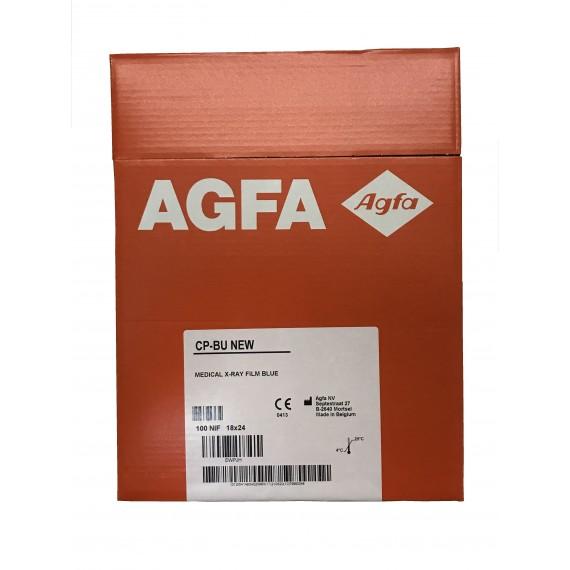 Película RX Agfa CP-BU New de 18 x 24 centímetros (100 unidades)