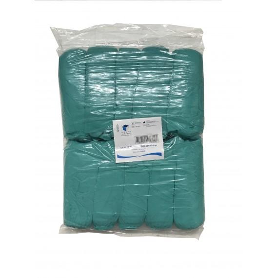 Calzas de Tejido Sin Tejer en color verde Unidix de 40 gr/m² (100 unidades)