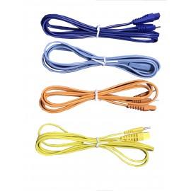 Cables de color para electroestimulador Globus -juego de 4 unidades