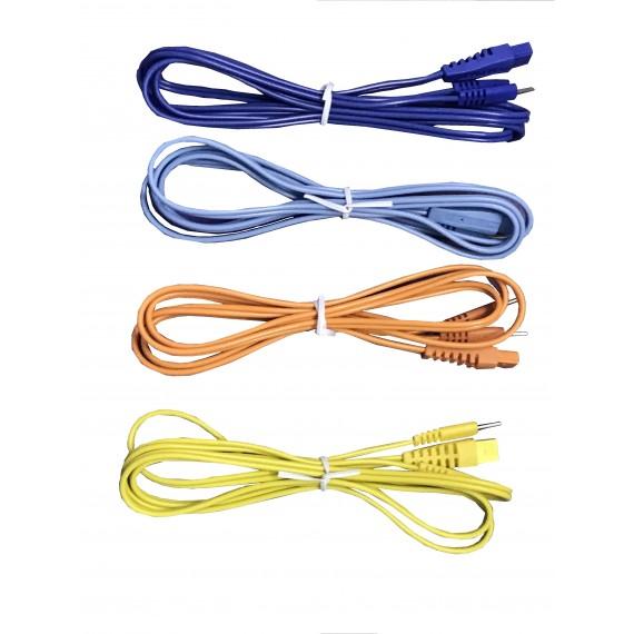 Cables de color para electroestimulador Globus (juego de 4 unidades)