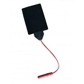Electrodo de silicona con cable de 4mm rojo de 60 x 85 milímetros