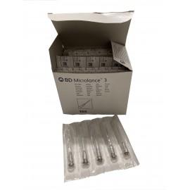 "Agujas hipodérmicas BD Microlance 3 de 0,7 x 30 milímetros 22G x ¼"" Negro"
