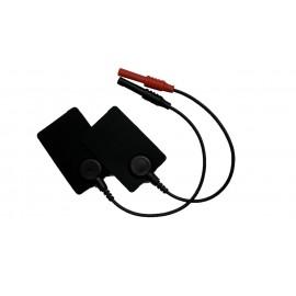 Electrodos de silicona con cable de 4mm/H de 4 x 6 centímetros