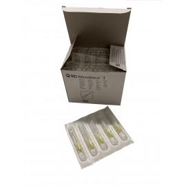 "Agujas hipodérmicas BD Microlance 3 de 0,3 x 13 milímetros 30G x ½"" Amarilla"