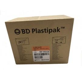 Jeringas de 1 milímetro para insulina BD Plastipack U-100 con aguja de 16 x 0,5 milímetros