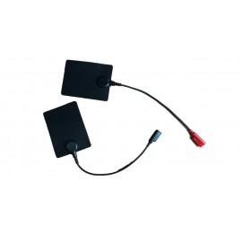 Electrodos de silicona con cable de 2-4mm/H de 6 x 8 centímetros