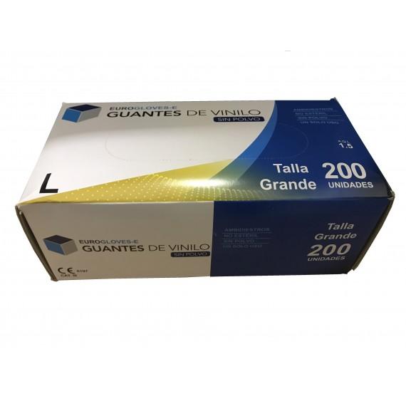 Guantes de vinilo sin polvo Eurogloves-E (talla grande) (200 unidades)