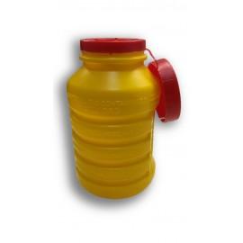 Contenedor para agujas usadas de 1 litro color amarillo