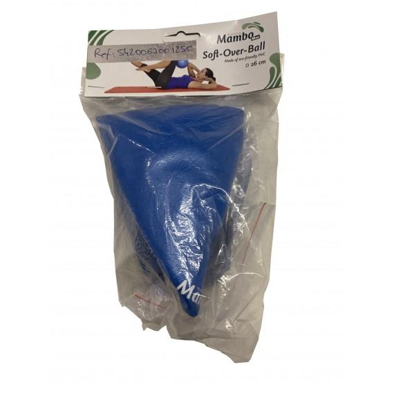 Balón pequeño para pilates Soft-Over de 26 centímetros azul
