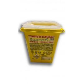Contenedor para agujas uasadas Biocompact de 3 litros amarillo