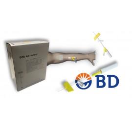 Sistemas de seguridad BD Saf-T Intima con PRN recto, 24 GA de 0,7 x 19 milímetros