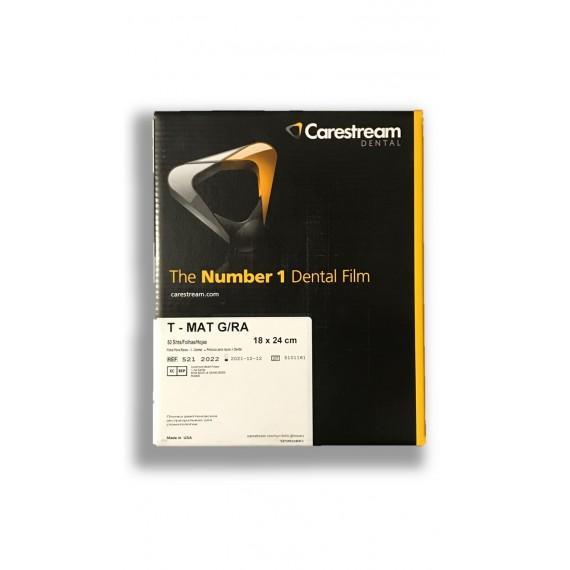 Película RX Carestream T-MAT G/RA de 18 x 24 centímetros (50 unidades)