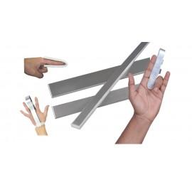 Férula de aluminio y látex de 50 x 2 centímetros -aluminio de 1,5 milímetros