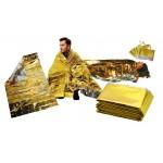 Uso de la manta térmica Alea (plata - dorado)