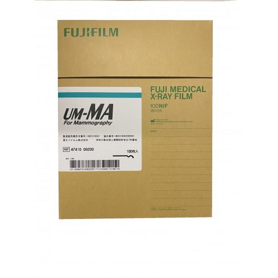 Película RX Fuji UM-MA de 18 x 24 centímtros (100 unidades)