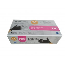 Guantes nitrilo Rubberex negro sin polvo talla M