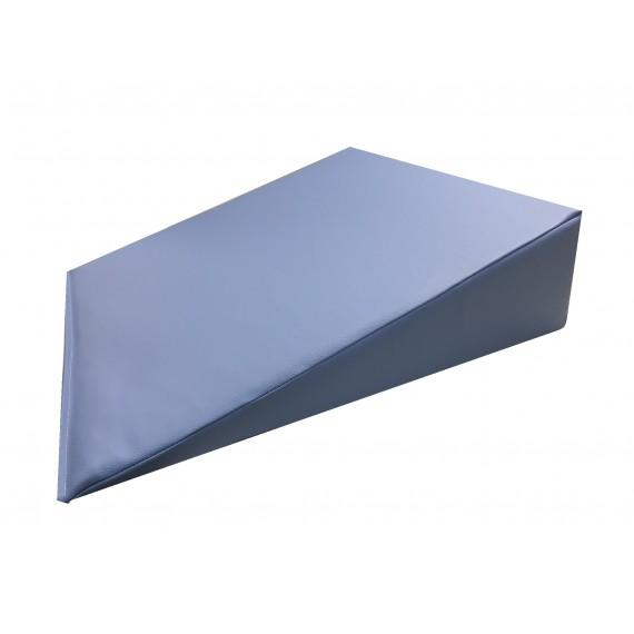 Cuña postural triangular Kinefis de 60 x 60 x 15 centímetros de color azul
