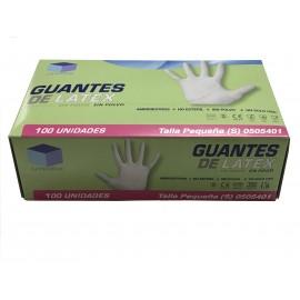 Guantes látex sin polvo UNIDIX (talla pequeña)
