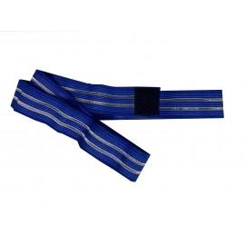 Cincha elástica de fijación con velcro de 3 x 60 centímetros color azul