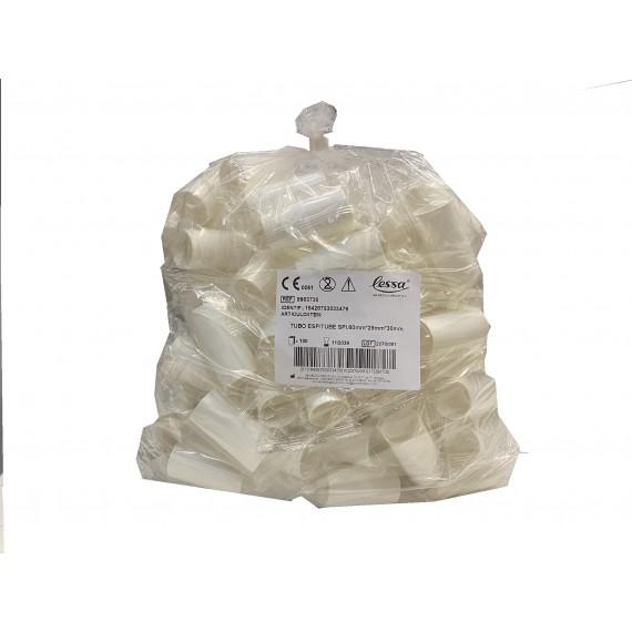Boquillas de cartón para espirómetros de 60 x 28 x 30 milímtros (embolsado individual) (100 unidades)