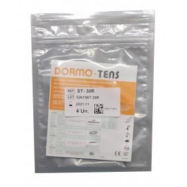 Electrodos adhesivos Dormo-TENS ST-30R con cable de 2 mm Telic circular de 30 milímetros de diámetro