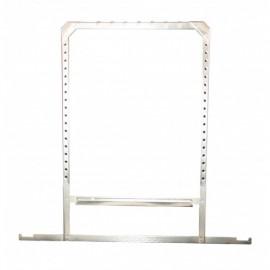 Marco colgador para películas en acero inoxidable de 15 x 30 centímetros