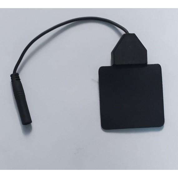 Electrodo de silicona con cable de 4 milímetros Lessa de 50 x 50 milímetros