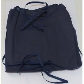 Batas desechables de manga corta y de 40 gr/m² de color azul oscuro