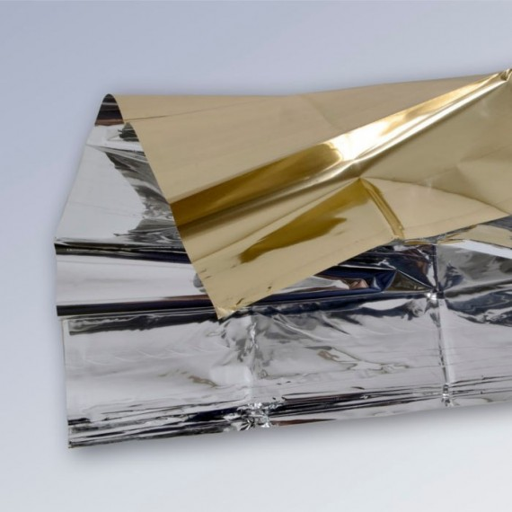 Manta térmica Alea (plata - dorado) de 60 gramos y 160 x 210 centímetros