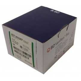 Cánula IV BD Venflon Pro de 18GA Verde y de 1,3 x 45 milímetros
