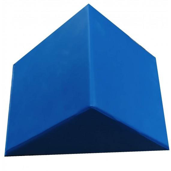 Cuña postural triangular Kinefis de 40 x 40 x 40 centímetros de color azul