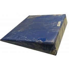 Almohada posicionador de paciente ignífuga y sin cremallera de 60x60x15 centímetros de color azul