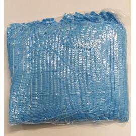 Gorros plegados tipo acordeón desechables de TST en color azul