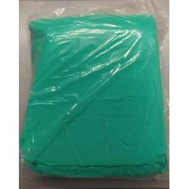 Batas verdes con puño de tricot de 30 gramos/m²
