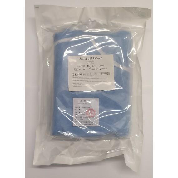 Batas de cirugía estériles con puños de 45 gramos hidro repelentes
