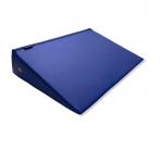 Cuña postural triangular de 60 x 45 x 15 centímetros color azul