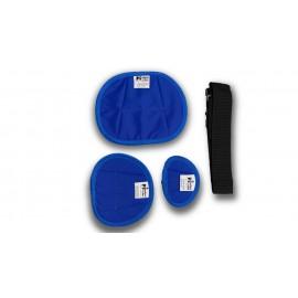 Protectores gonadales ováricos neonatales de 1 mm Pb (tres tallas S - M - L)
