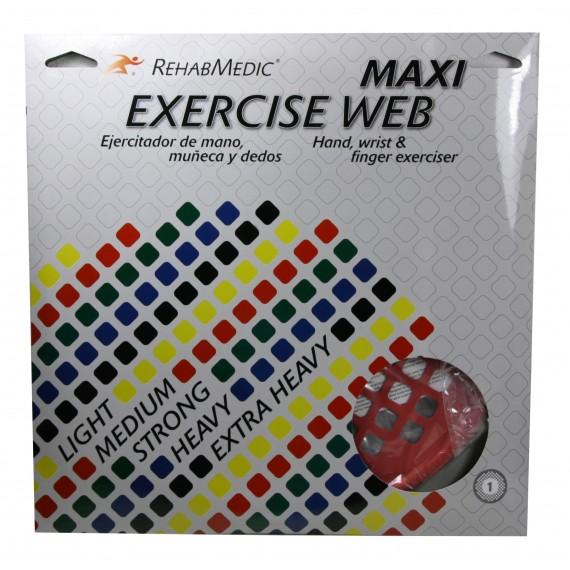Ejercitador Web Maxi grande RehabMedic rojo (medio)