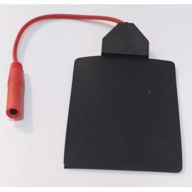 Electrodos de silicona con cable de 4 milímetros Lessa 60 x 85 milímetros