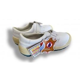 Zapato Panter Diamante con velcro Totale en color blanco S2 y talla 38