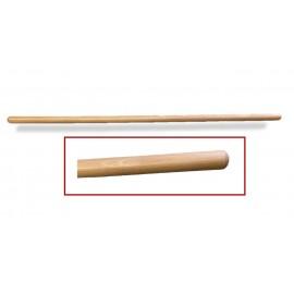 Pica de madera de 2,5 centímetros de diámetro x 100 centímetros de largo