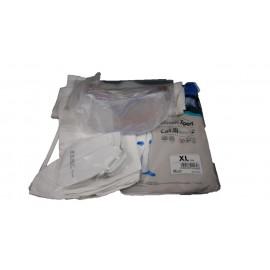 Kit de amianto (mono, cubrebotas, mascarilla, toalla, gafa y bolsas)